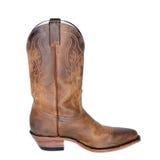 Pojedynczy Brown Zachodni but zdjęcie stock