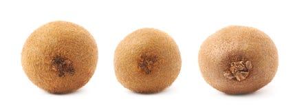 Pojedynczy cały kiwifruit odizolowywający Fotografia Stock