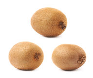Pojedynczy cały kiwifruit odizolowywający Obrazy Royalty Free