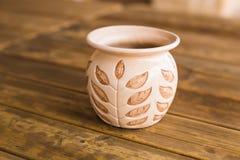 Pojedynczy ceramiczny garnek Zakończenie zdjęcia royalty free