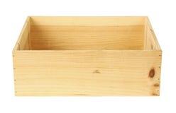 pojedynczy drewnianego pudła Obrazy Royalty Free