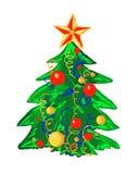 pojedynczy drzewo bożego narodzenie Zdjęcie Royalty Free