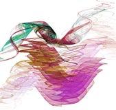 pojedynczy fractal white ilustracja wektor