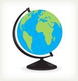 pojedynczy globus white Obraz Stock
