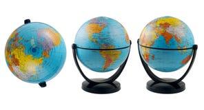 pojedynczy globus white Zdjęcia Stock