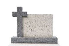Pojedynczy grób kamień (ścinek ścieżka) Zdjęcia Royalty Free