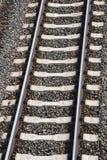 Pojedynczy kolejowy ślad Obrazy Royalty Free