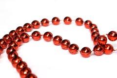 pojedynczy koralika czerwony white Obrazy Royalty Free