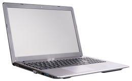 pojedynczy laptopa white Zdjęcia Stock