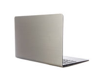 pojedynczy laptopa white Zdjęcie Stock