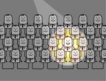 pojedynczy mężczyzna światło reflektorów Zdjęcia Stock