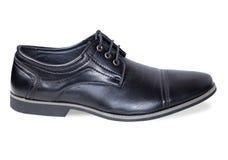Pojedynczy męski czarny klasyka but Zdjęcia Stock