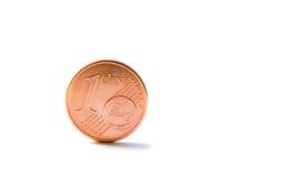 pojedynczy menniczy centu euro jeden Zdjęcia Stock