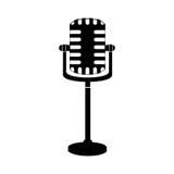 Pojedynczy mikrofon ikony wizerunek Zdjęcia Royalty Free
