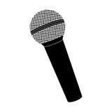 Pojedynczy mikrofon ikony wizerunek Fotografia Royalty Free