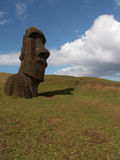 Pojedynczy Moai Obrazy Royalty Free