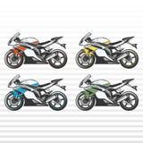 pojedynczy motocykla white sportu Obraz Royalty Free