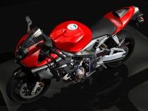 pojedynczy motocykla white sportu Obrazy Stock