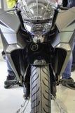 pojedynczy motocykla white sportu Fotografia Stock