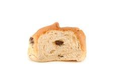 Pojedynczy plasterek rodzynki chleb. fotografia stock