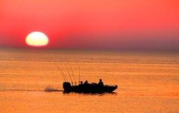 pojedynczy połowowych łodzi obrazy royalty free