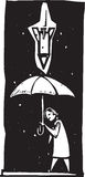 Pojedynczy pociska parasol Fotografia Stock