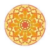 Pojedynczy pomarańczowy mandala Obrazy Royalty Free