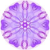 Pojedynczy purpurowy mandala Obrazy Stock