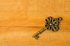 Pojedynczy rocznika klucz obrazy stock