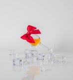Pojedynczy słodowy smaczny szkło, pojedynczy słodowy whisky w szkle, białym Zdjęcie Stock