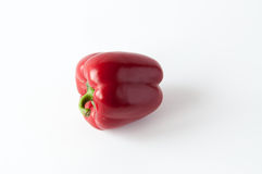 Pojedynczy słodki czerwony pieprz Zdjęcia Royalty Free