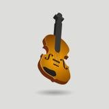 pojedynczy skrzypce ilustracja wektor