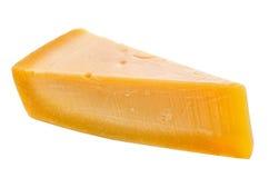 Pojedynczy smakowity świeży żółty duży segmentu kawałek parm ser jest jest Obrazy Royalty Free
