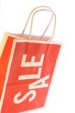 pojedynczy sprzedaży torby na zakupy Zdjęcie Stock