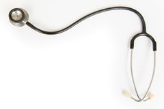 pojedynczy stetoskop Zdjęcie Royalty Free