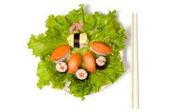 pojedynczy sushi zbliżenia statków zdjęcia royalty free