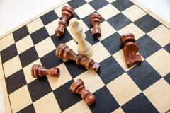 Pojedynczy szachowy kawałek Fotografia Stock