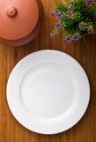 pojedynczy talerza biel Fotografia Stock