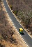 Pojedynczy Tuku Tuk riksza na drodze w Jaipur Obrazy Stock