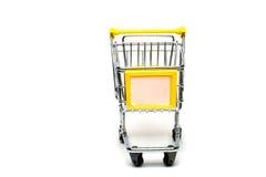 pojedynczy wózka na zakupy Zdjęcia Stock