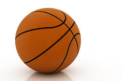 pojedynczy white koszykówki Obraz Royalty Free