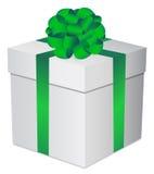 pojedynczy white pudełko prezent Obraz Stock