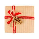 pojedynczy white pudełko prezent Obrazy Royalty Free