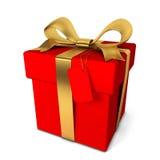 pojedynczy white pudełko prezent royalty ilustracja