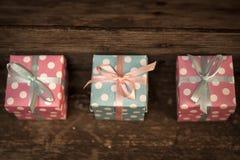 pojedynczy white pudełko prezent Zdjęcie Stock