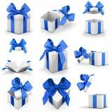 pojedynczy white pudełko prezent Obraz Royalty Free