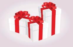 pojedynczy white pudełko prezent Zdjęcia Royalty Free