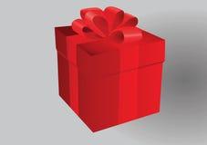 pojedynczy white pudełko prezent Fotografia Stock