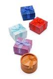 pojedynczy white pudełko prezent Zdjęcie Royalty Free