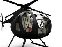 pojedynczy widok helikoptera Zdjęcia Royalty Free